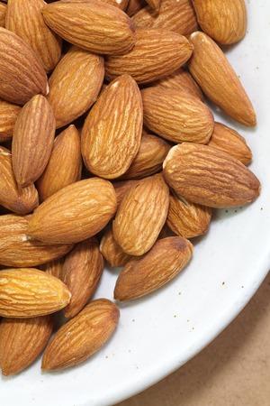 heathy: Close - up heathy food almonds seed Stock Photo