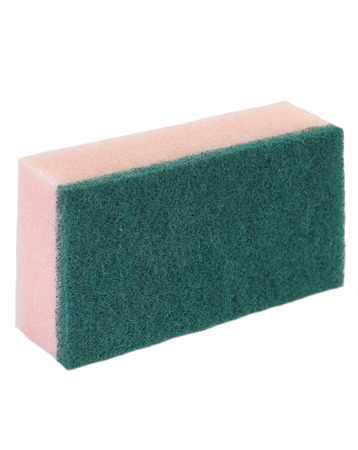 Kitchen sponge for washing and cleaning dish photo