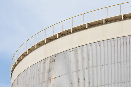 big Industrial oil tanks in a refinery photo