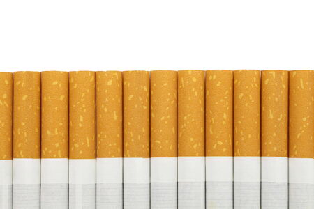 Cigarettes with a brown filter close - up Stock Photo