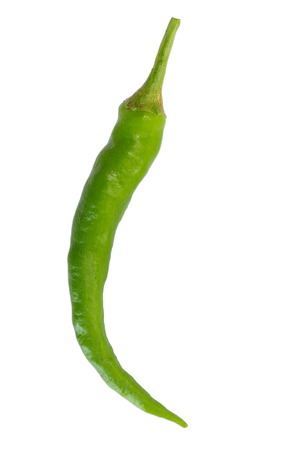 Green Chili isolated on a white background photo