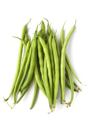 Yard long bean isolated on the white background photo