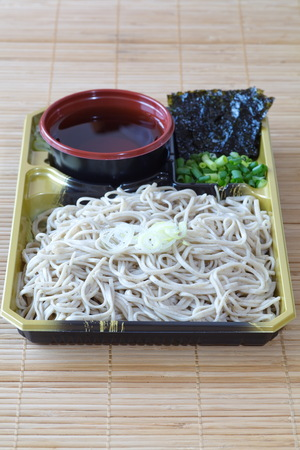 soba noodles: Japanese soba noodles made from buckwheat flour