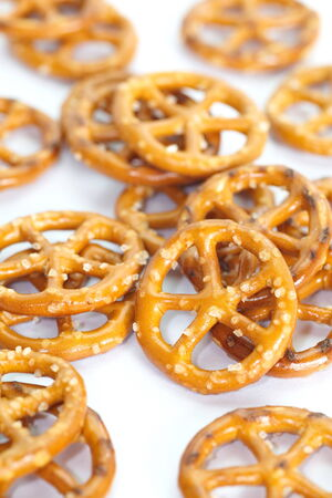 Close - up Baked bread pretzel snack
