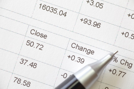 Close - up business financial chart analysis  photo