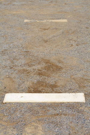 homeplate: Close - up baseball pitcher mount at field