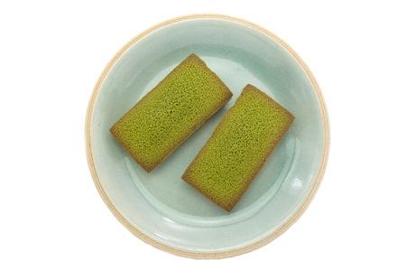 financier: maccha green tea financier cake Stock Photo