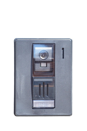 access control: Security video intercom  in the apartment door Stock Photo