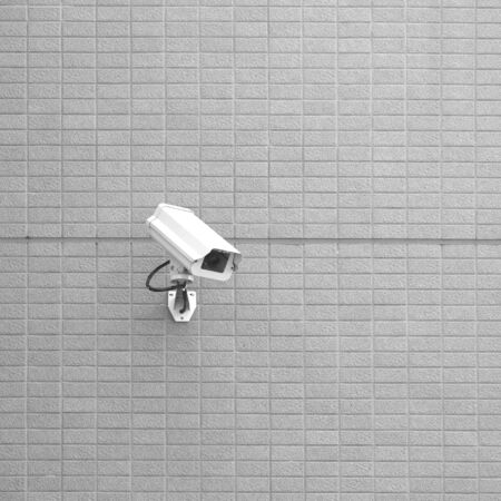 cctv camera: CCTV camera or Security camera on the building wall