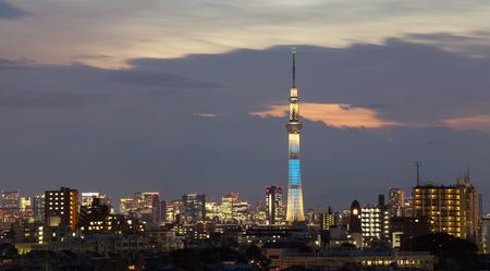 oshiage: Tokyo sky tree and Sumida river Editorial