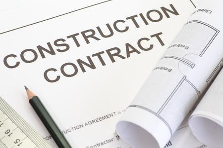 -ペンと建築ロール建設契約を終了します。
