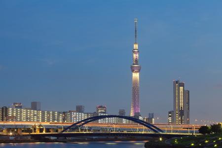 sumida: Tokyo city view and Sumida river with Tokyo sky tree
