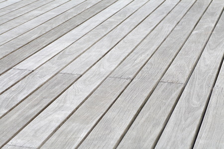 white wood floor: Outdoor white wood floor texture and background Stock Photo