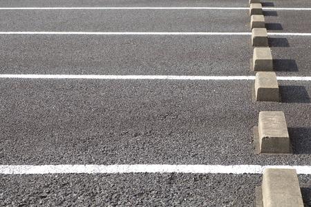 駐車場の空の屋外スペース 写真素材