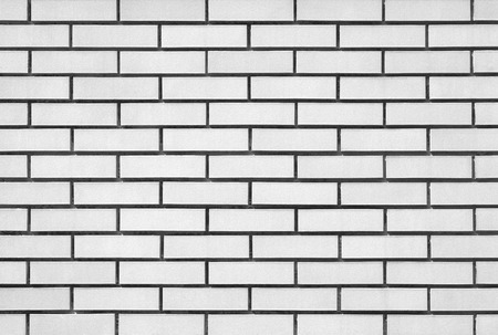 White brick modern wall background and texture photo