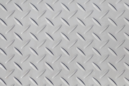 diamond plate: White diamond metal plate texture and background Stock Photo