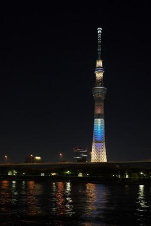 oshiage: Tokyo city view and Sumida river with Tokyo sky tree