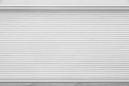 White metal roller door shutter background and texture photo