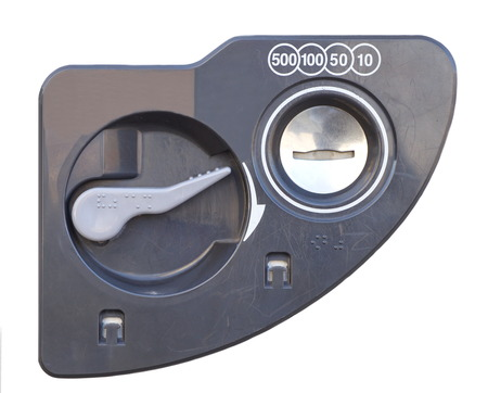 vend: Close - up  coin insert space for vending Machine