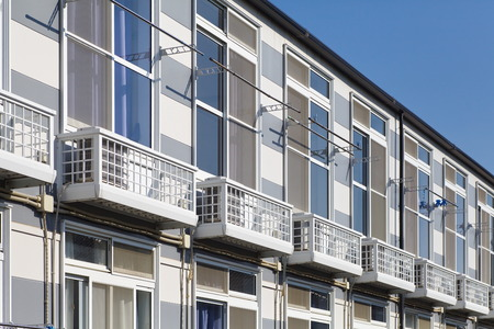 Small and new modern apartment building Redactioneel