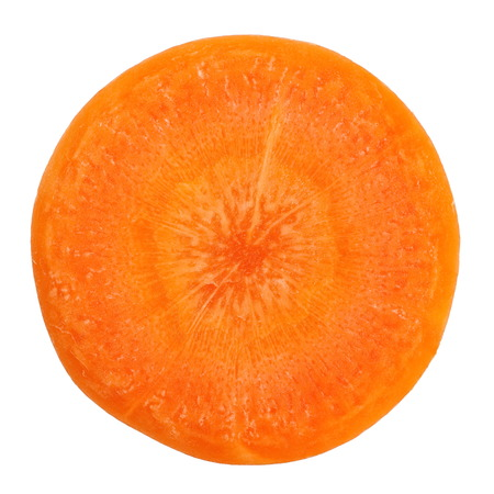 Fresh carrot slice on a white background 版權商用圖片