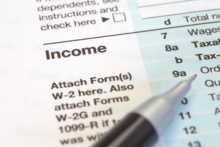 tax forms: Close - up U.S. income tax form