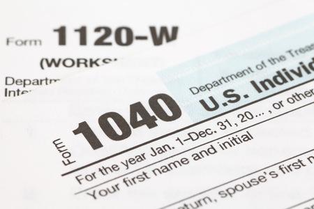 tax: Close - up U.S. income tax form