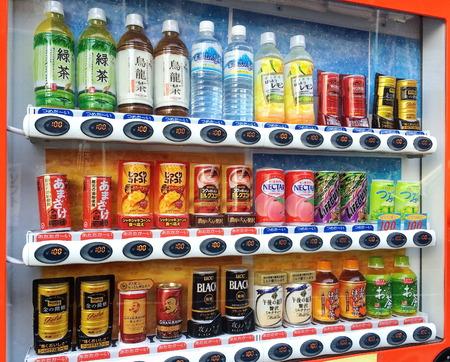 東京の様々 な会社の自動販売機