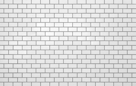 White new brick wall texture and seamless background photo
