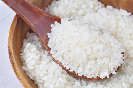 riso bianco: Riso bianco asiatico o riso bianco crudo