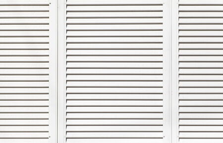 White metal window shutter background and texture photo