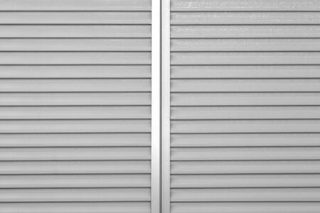 Gray metal window shutter background and texture photo