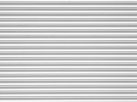 White corrugated metal texture and background surface photo