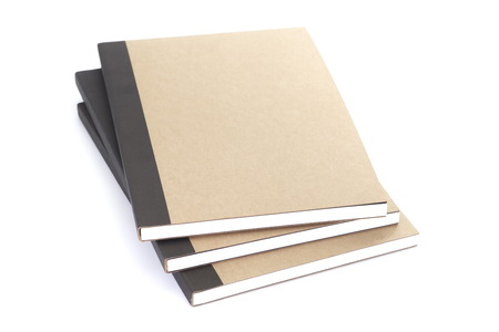 Brown notebook isolated on a white background photo