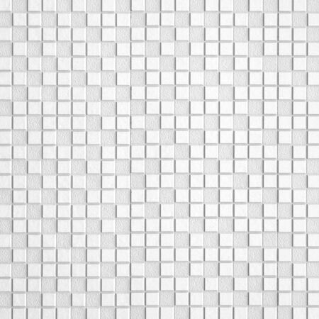White Mosaic Tiles abstract background and texture