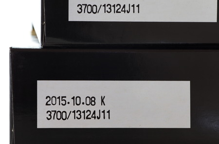 up to date: Close - up Expiry date printed on product box