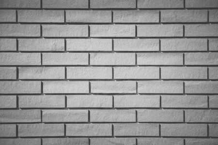 Old white brick wall background and texture photo