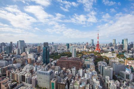 Tokyo city view and Tokyo landmark Tokyo sky tree before sunset