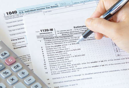 Close - up US income tax form photo