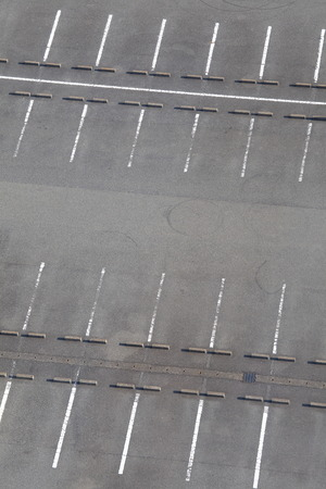 vacant lot: Empty Space in a car parking Lot Stock Photo