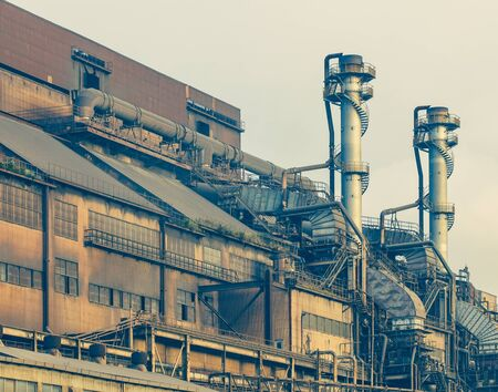 heavy industry: Exterior building of heavy steel industry factory