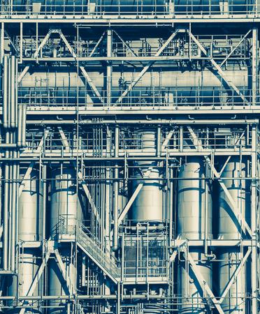 industriales: Visión industrial en la refinería de petróleo zona de la industria forma de la planta