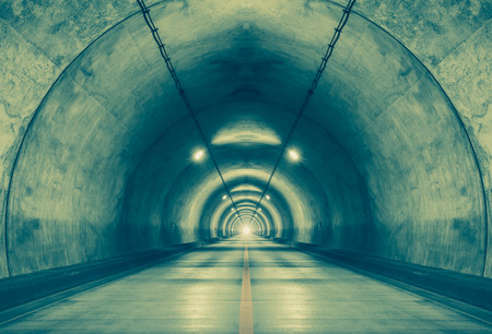 tunnel: Interior of an urban tunnel at mountain without traffic