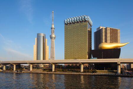 Tokyo sky tree and Sumida river at Tokyo city photo