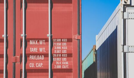 dockyard: Container shipping on container track at dockyard