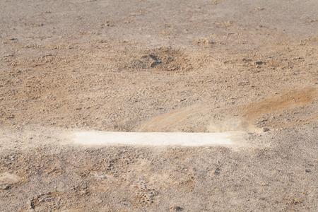 pitching: Close - up Baseball Pitching mound at baseball field