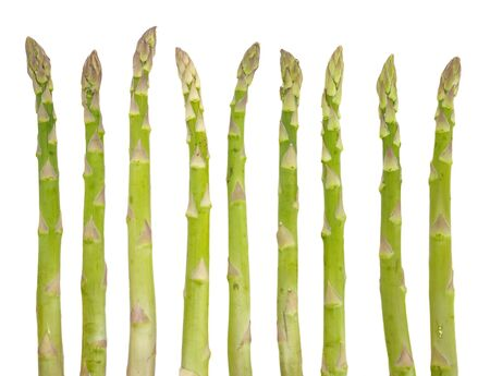 Fresh green asparagus isolated on white background photo