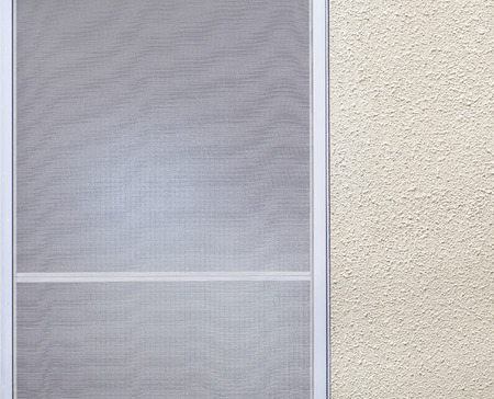 Window frosted glass and white simple wall background Archivio Fotografico