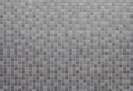 ceramic: Grey and black mosaic wall texture and background