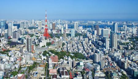 도쿄 시티 뷰와 도쿄 랜드 마크 도쿄 타워 스톡 콘텐츠 - 40339647